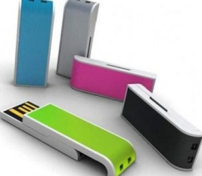 Stylish USB with neon coloured slider