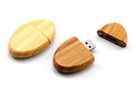Wooden Pebble Shaped USB