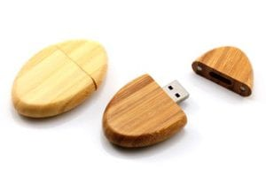 Wooden Pebble Shaped USB