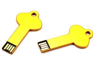 Yellow Key Shaped USB
