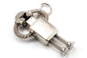 Silver robot custom USB