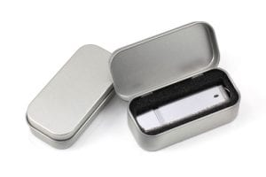 Tin USB holder