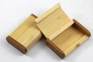 Wooden USB Holder Flip Case