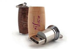 Wooden Barrel Shaped USB