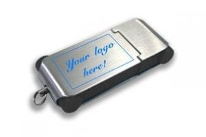Slim Engraved Metal USB