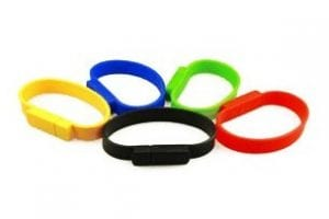 Innovative USB coloured wrist band