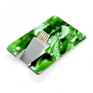 Flip out rotating USB card