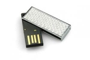 Sleek Diamante Detail USB