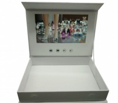 5-Inch White Video Brochure